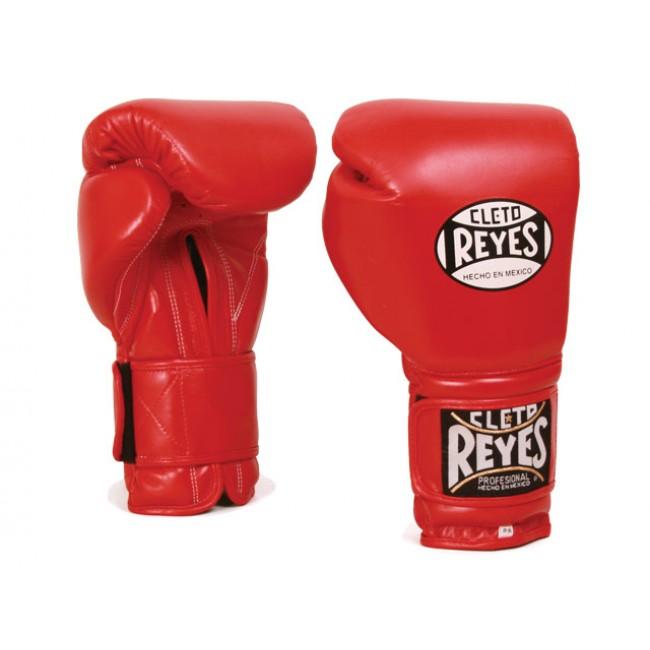 Боксерские перчатки Перчатки боксерские на липучке 8 унций красные от Cleto Reyes