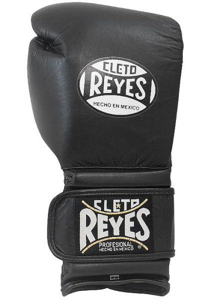 Боксерские перчатки Перчатки боксерские тренировочные на липучке 16 унций чёрные от Cleto Reyes