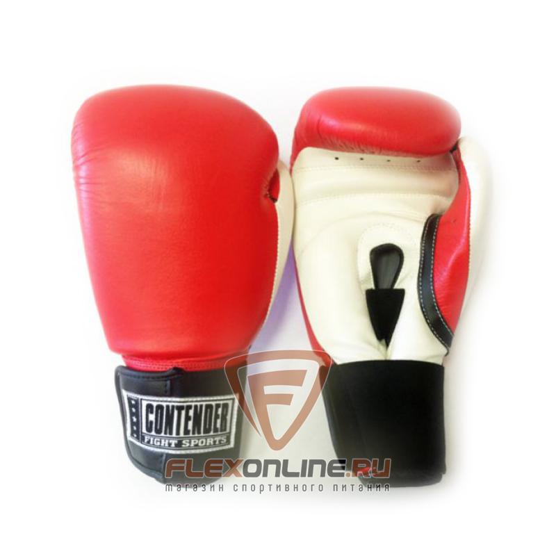 Боксерские перчатки Перчатки боксерские тренировочные на липучке 14 унций красно-белые от Contender