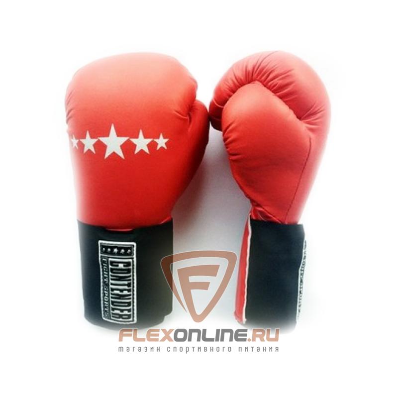 Боксерские перчатки Перчатки боксерские тренировочные на липучке 16 унций красные от Contender