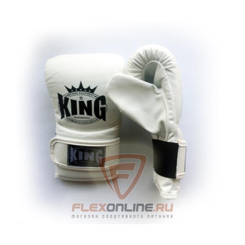 Cнарядные перчатки Перчатки снарядные на липучке S белые от King
