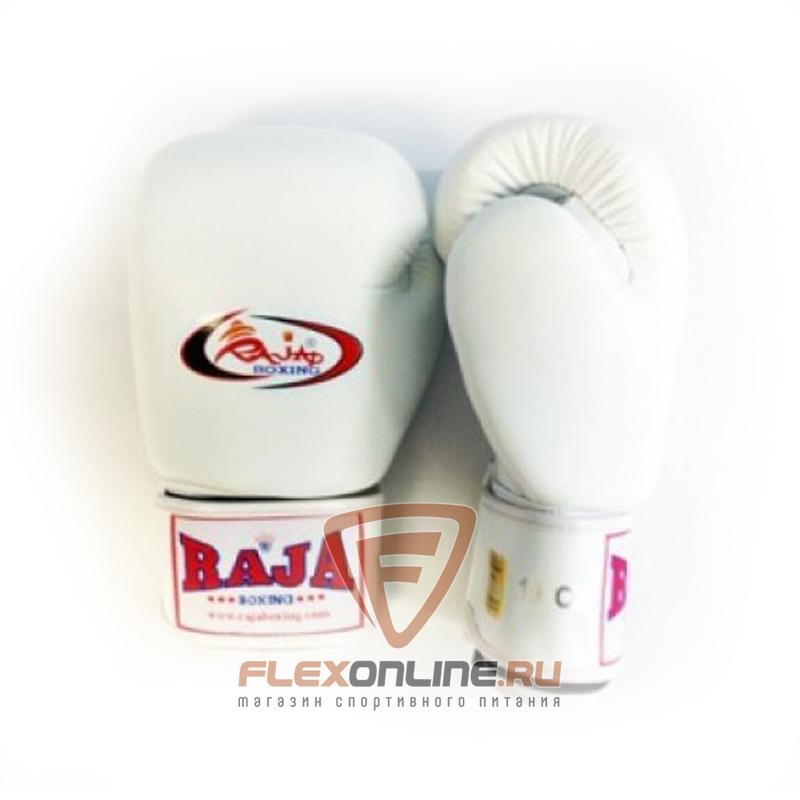Боксерские перчатки Перчатки боксерские тренировочные на липучке 16 унций белые от Raja