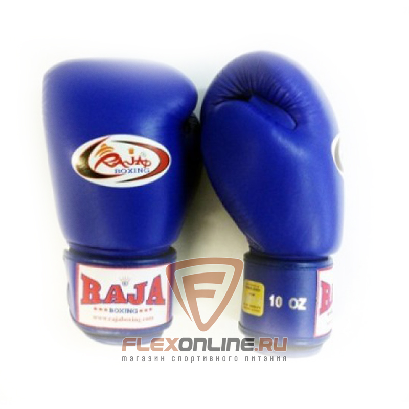 Боксерские перчатки Перчатки боксерские тренировочные на липучке 16 унций синие от Raja