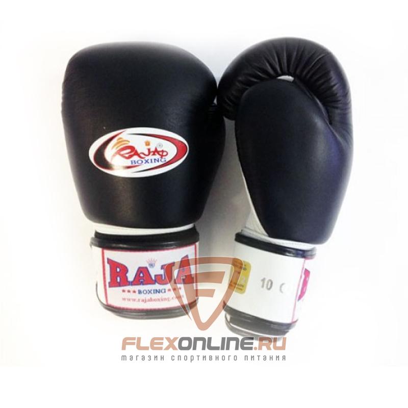 Боксерские перчатки Перчатки боксерские тренировочные на липучке 10 унций чёрно-белые от Raja