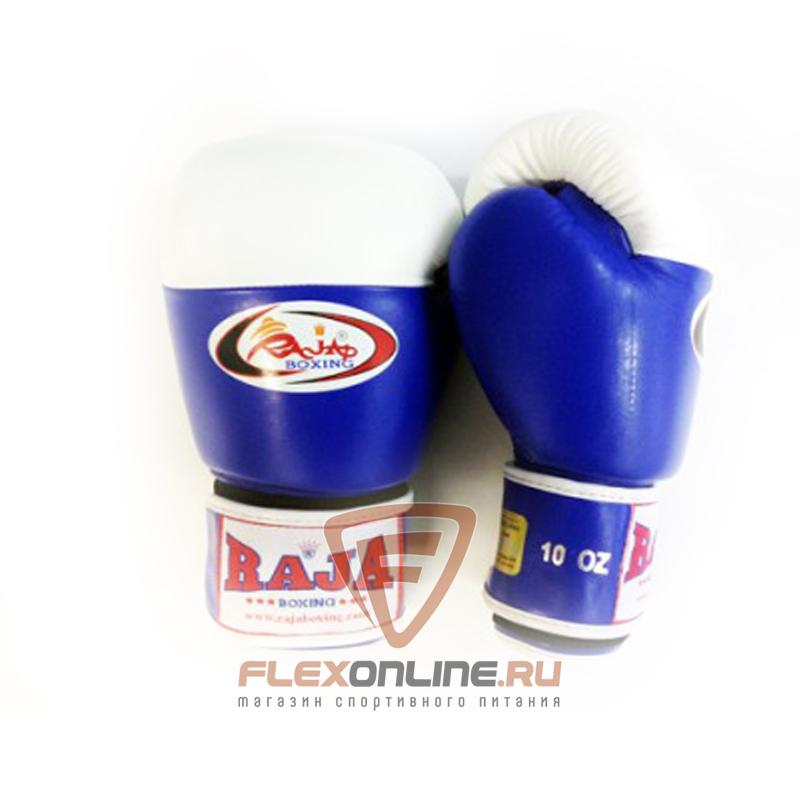 Боксерские перчатки Перчатки боксерские соревновательные на липучке 10 унций сине-белые от Raja