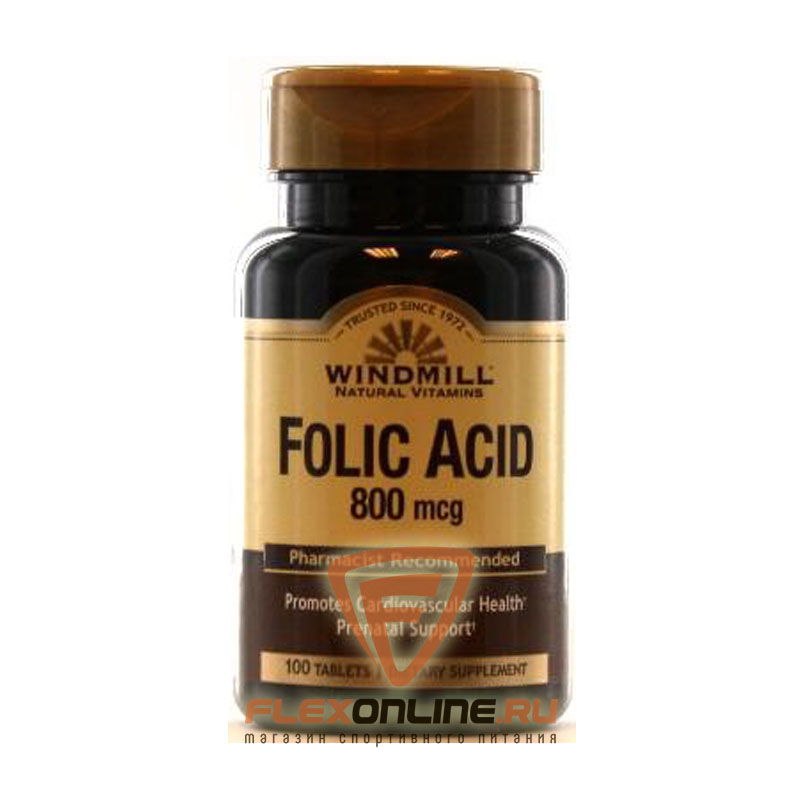 Windmill Folic Acid, 800mcg