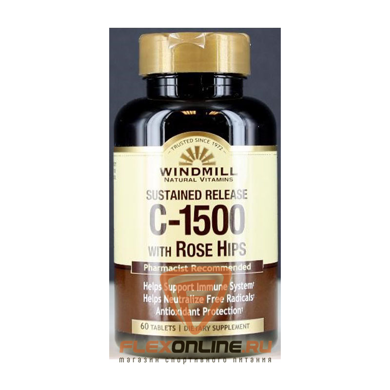 Витамины C-1500 mg.with Rose Hips Sustained Release от Windmill