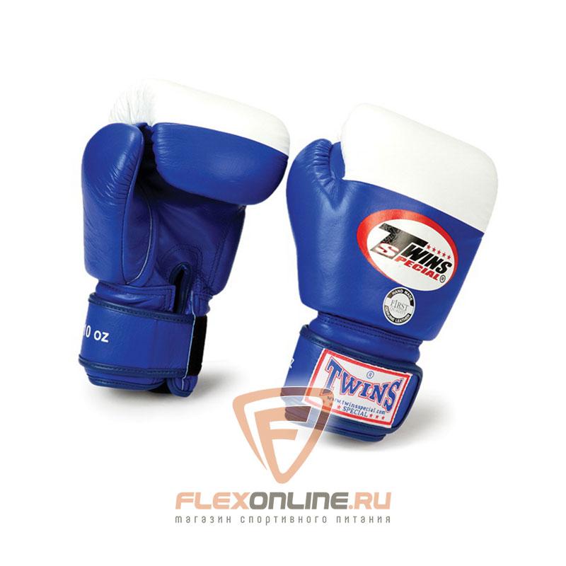Боксерские перчатки Перчатки боксерские соревновательные 10 унций синие от Twins
