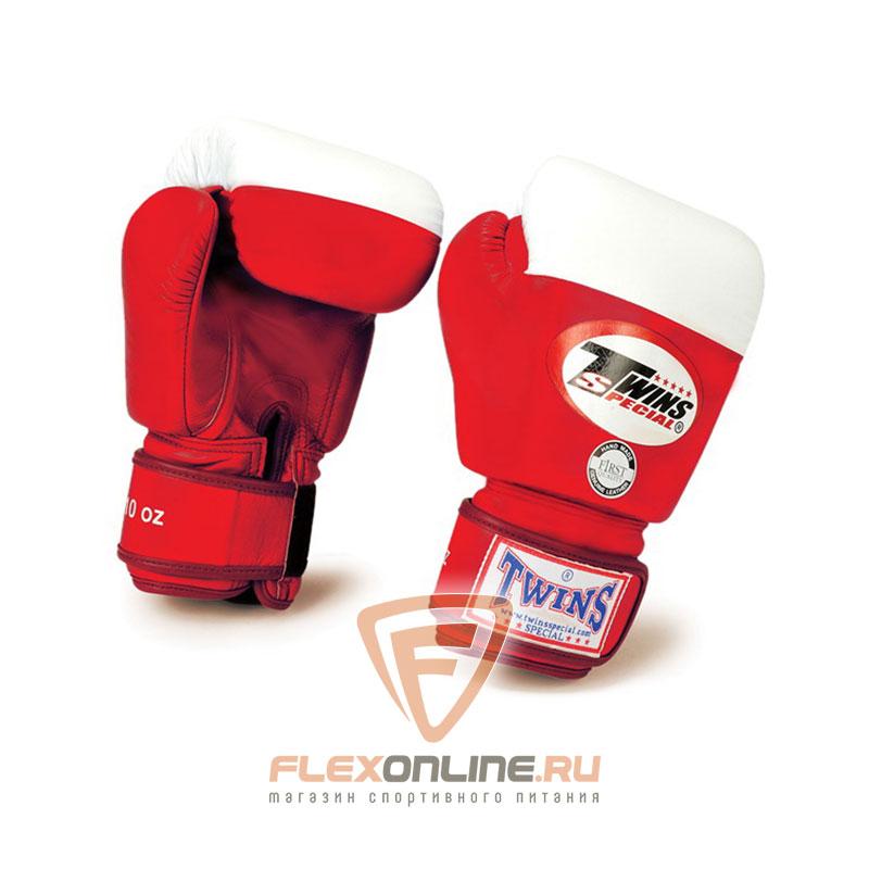 Боксерские перчатки Перчатки боксерские соревновательные 8 унций красные от Twins