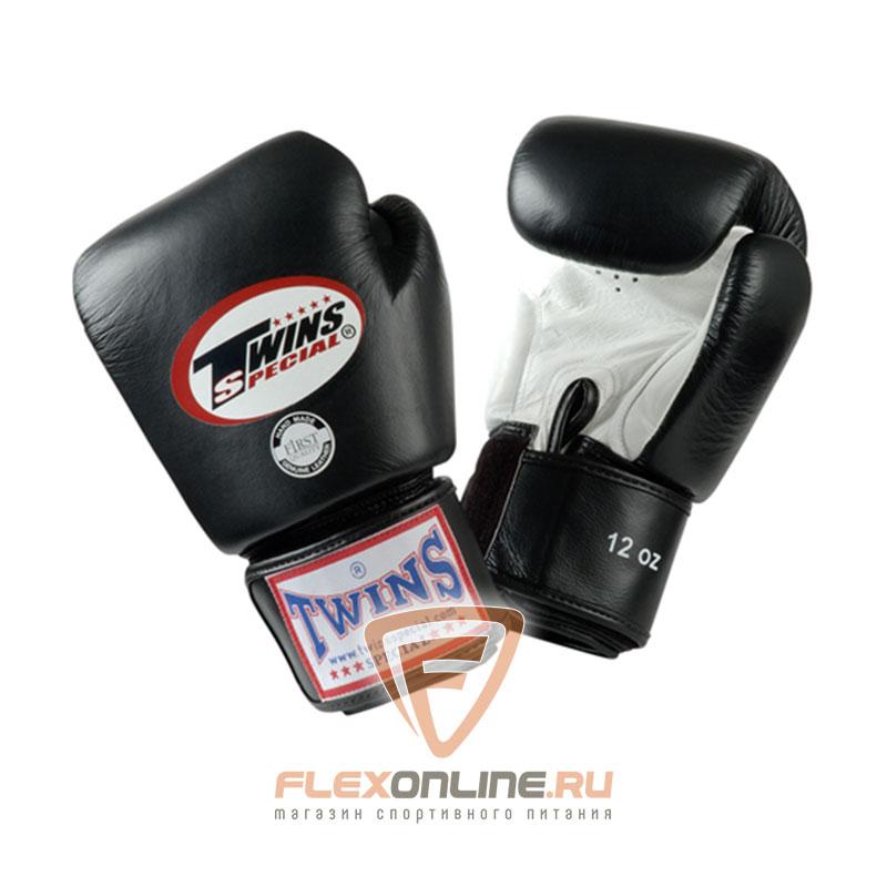 Боксерские перчатки Перчатки боксерские тренировочные 8 унций бело-чёрные от Twins