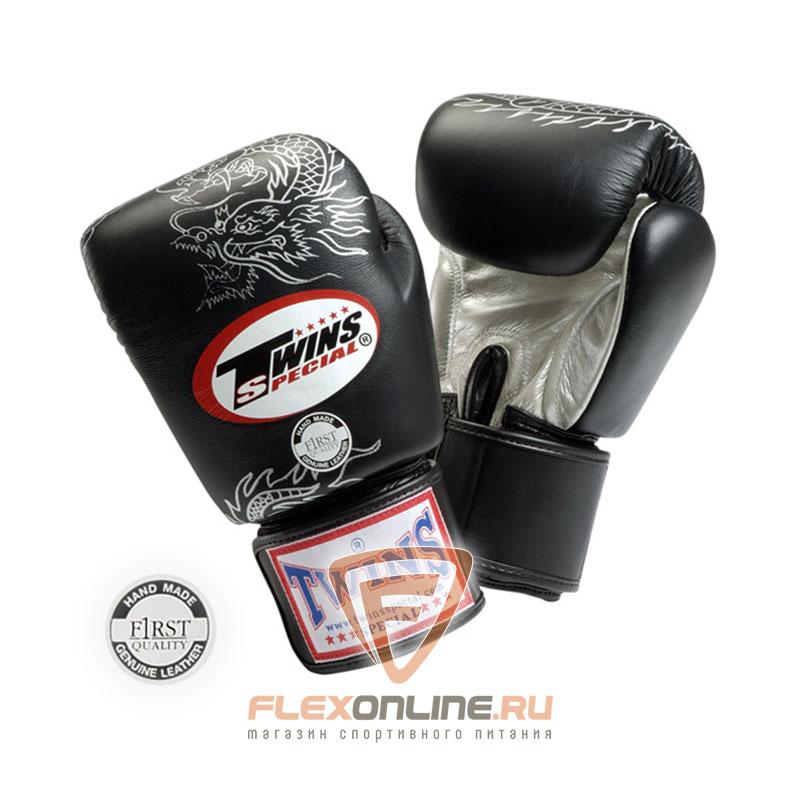 Боксерские перчатки Перчатки боксерские тренировочные на липучке 12 унций чёрные от Twins