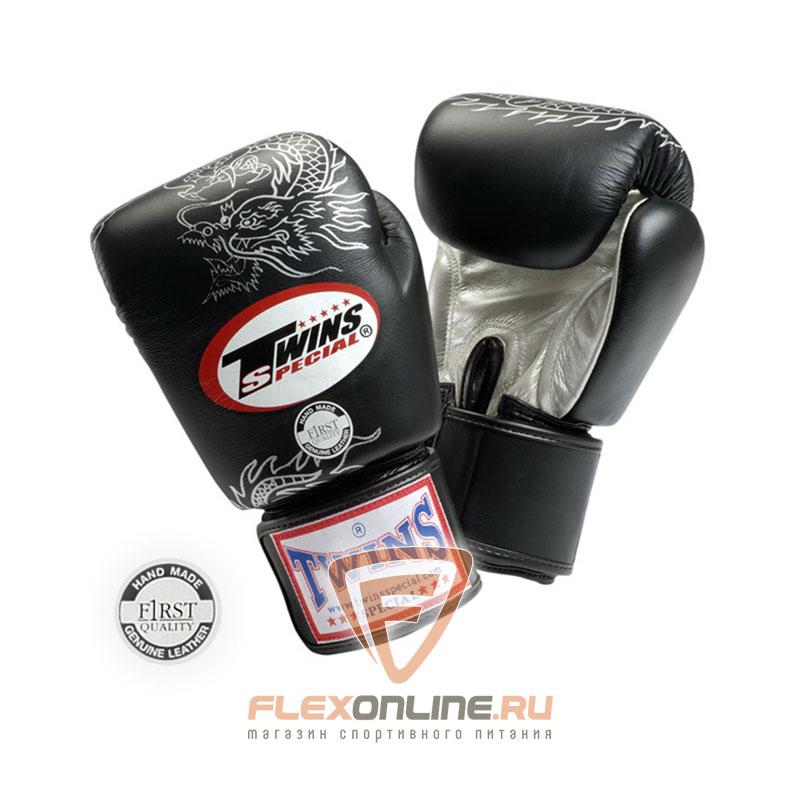 Боксерские перчатки Перчатки боксерские тренировочные на липучке 14 унций чёрные от Twins
