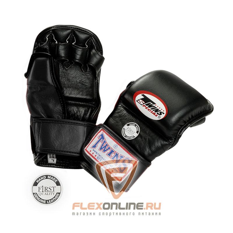 Перчатки MMA Перчатки ММА на липучке XL чёрные от Twins