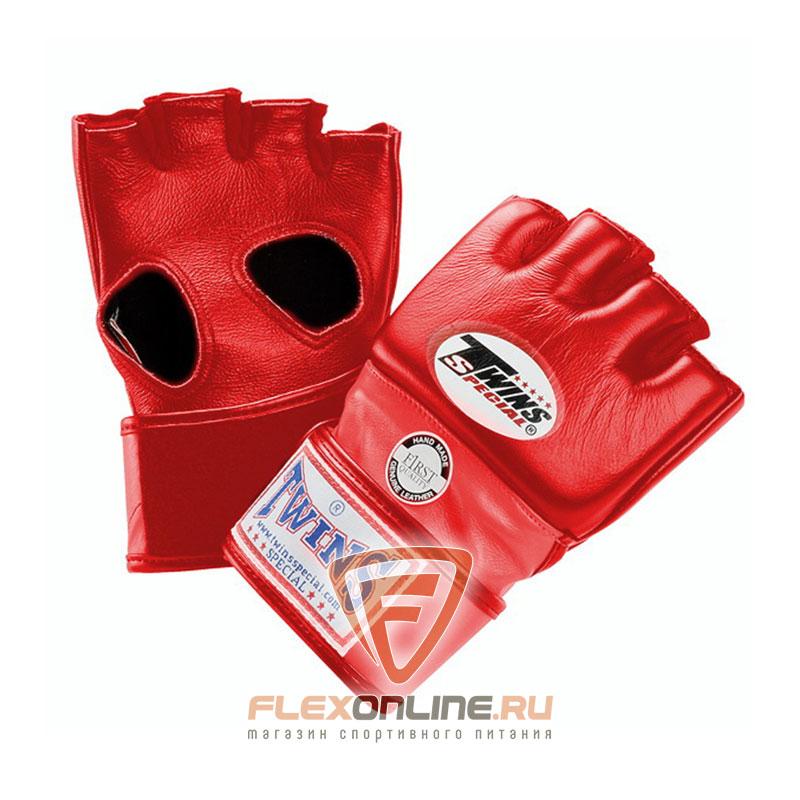 Перчатки MMA Перчатки ММА на липучке L красные от Twins