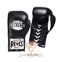 Боксерские перчатки Перчатки боксерские на шнурках 8 унций чёрные от Cleto Reyes