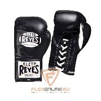 Боксерские перчатки Перчатки боксерские на шнурках 10 унций чёрные от Cleto Reyes