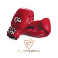 Боксерские перчатки Перчатки боксерские SUPER STAR 14 унций красные от Green Hill