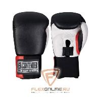 Боксерские перчатки Перчатки боксерские тренировочные на липучке 10 унций чёрно-белые от Contender