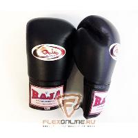 Боксерские перчатки Перчатки боксерские соревновательные на шнурках 10 унций чёрные от Raja
