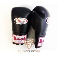 Боксерские перчатки Перчатки боксерские соревновательные на шнурках 12 унций чёрные от Raja