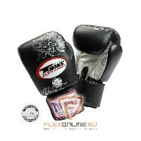 Боксерские перчатки Перчатки боксерские тренировочные на липучке 8 унций чёрные от Twins