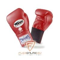 Боксерские перчатки Перчатки боксерские тренировочные на резинке 12 унций красные от Twins