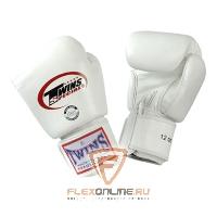 Боксерские перчатки Перчатки боксерские тренировочные 12 унций белые от Twins