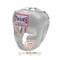 Шлемы Боксерский шлем тренировочный с креплением на липучке L серебряный от Twins