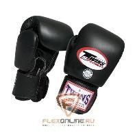 Боксерские перчатки Перчатки боксерские тренировочные 10 унций чёрные от Twins