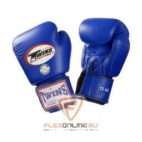 Боксерские перчатки Перчатки боксерские тренировочные 16 унций синие от Twins