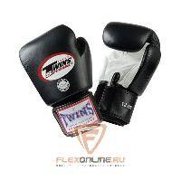Боксерские перчатки Перчатки боксерские тренировочные 18 унций бело-чёрные от Twins