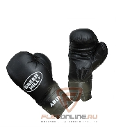 Боксерские перчатки Перчатки боксерские ABID 14 унций чёрные от Green Hill