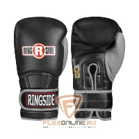 Боксерские перчатки Боксерские перчатки тренировочные 16 унций чёрно-серые от Ringside