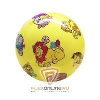 Медицинболы и мячи Мяч детский игровой с насосом желтый от NC sports
