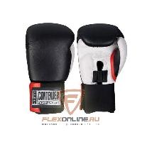 Боксерские перчатки Перчатки боксерские тренировочные на липучке 14 унций чёрно-белые от Contender