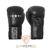Боксерские перчатки Перчатки боксерские тренировочные на липучке 16 унций чёрные от Contender