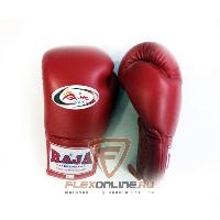 Боксерские перчатки Перчатки боксерские соревновательные на шнурках 12 унций красные от Raja