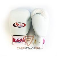 Боксерские перчатки Перчатки боксерские тренировочные на липучке 8 унций белые от Raja