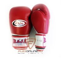 Боксерские перчатки Перчатки боксерские тренировочные на липучке 10 унций красно-белые от Raja