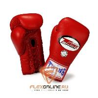 Боксерские перчатки Боксерские перчатки соревновательные на шнурках 8 унций красные от Twins