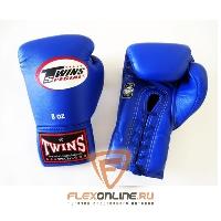 Боксерские перчатки Боксерские перчатки соревновательные на шнурках 8 унций синие от Twins