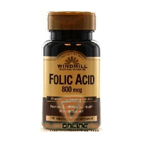 Витамины Folic Acid, 800mcg от Windmill