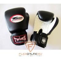 Боксерские перчатки Перчатки боксерские тренировочные 10 унций бело-чёрные от Twins