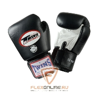 Боксерские перчатки Перчатки боксерские тренировочные 12 унций бело-чёрные от Twins