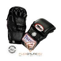 Перчатки MMA Перчатки ММА на липучке L чёрные от Twins